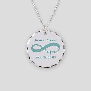 Infinity Happiness Custom Na Necklace Circle Charm