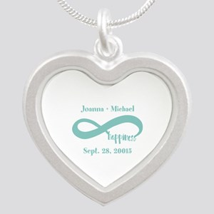Infinity Happiness Custom Na Silver Heart Necklace