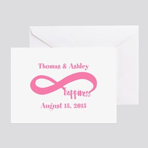Pink Custom Infinite Happiness Greeting Card