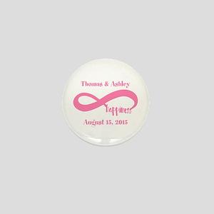 Pink Custom Infinite Happiness Mini Button