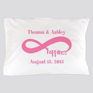 Pink Custom Infinite Happiness Pillow Case