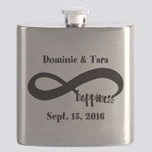 Bride and Groom Infinity Modern Happiness Flask