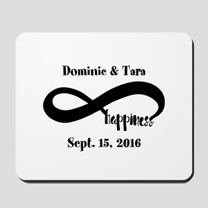 Bride and Groom Infinity Modern Happines Mousepad