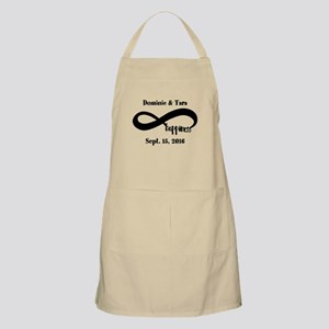 Bride and Groom Infinity Modern Happiness Apron