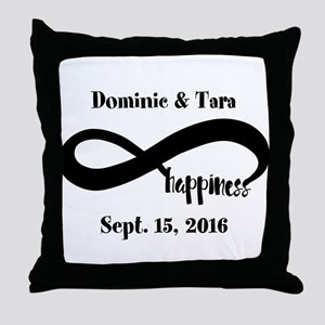 Bride and Groom Infinity Modern Happi Throw Pillow