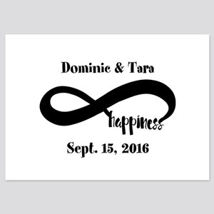 Bride and Groom Infinity Modern Hap 5x7 Flat Cards