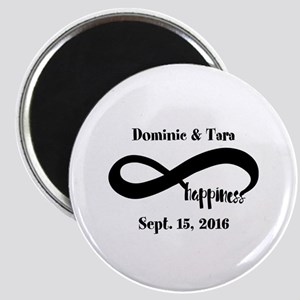 Bride and Groom Infinity Modern Happiness Magnet