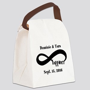 Bride and Groom Infinity Modern H Canvas Lunch Bag
