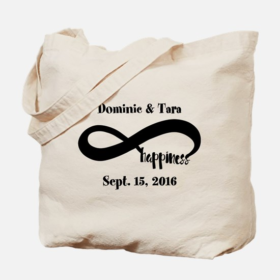 Bride and Groom Infinity Modern Happiness Tote Bag