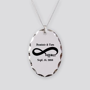 Bride and Groom Infinity Moder Necklace Oval Charm