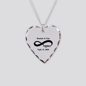 Bride And Groom Infinity Mode Necklace Heart Charm