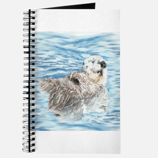 Cute Little Otter taking a Nap Journal