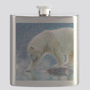 A polar bear at the water Flask