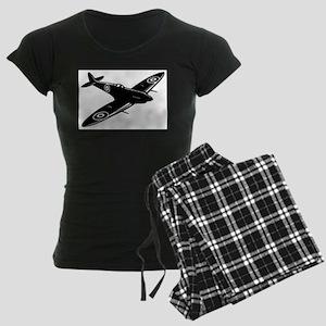 spitfire ww1 plane Women's Dark Pajamas