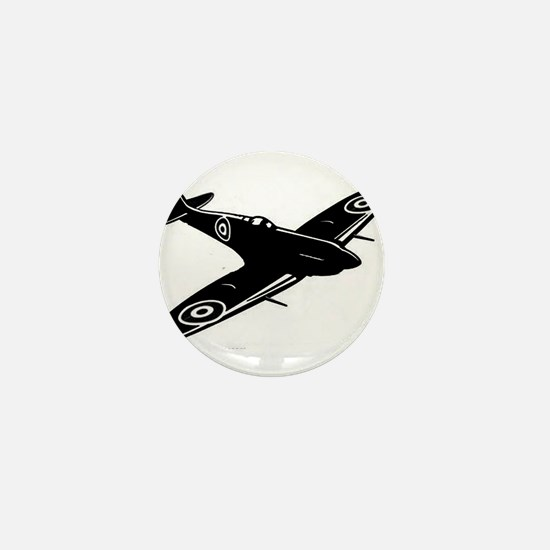 spitfire ww1 plane Mini Button