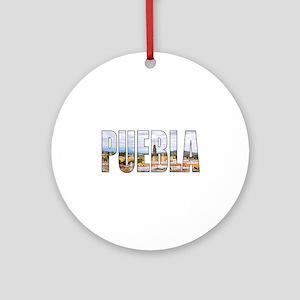 Puebla Round Ornament