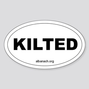 """Kilted"" Oval Sticker"