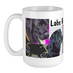 Labradors Rock! Large Mug