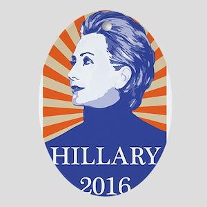 Hillary 2016 Oval Ornament