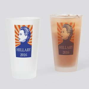 Hillary 2016 Drinking Glass