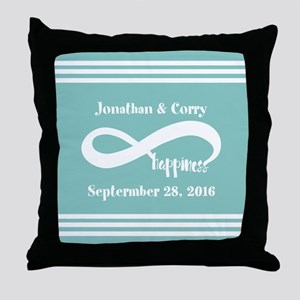 Custom Names Infinity Happiness Throw Pillow