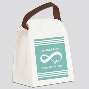 Custom Names Infinity Happiness Canvas Lunch Bag