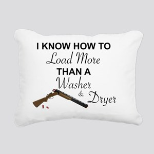 I KNOW HOW TO LOAD MORE Rectangular Canvas Pillow