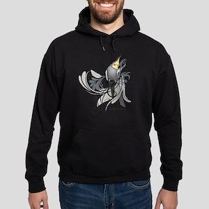 Gray Cockatiel Hoodie (dark)