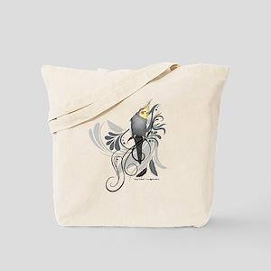 Gray Cockatiel Tote Bag