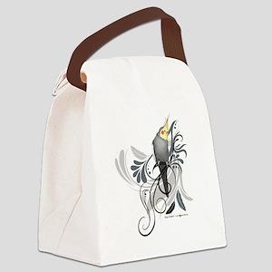 Gray Cockatiel Canvas Lunch Bag