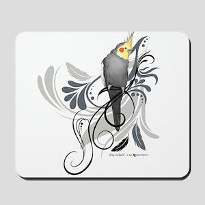Gray Cockatiel Mousepad