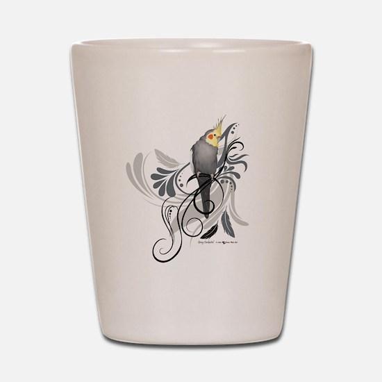 Gray Cockatiel Shot Glass