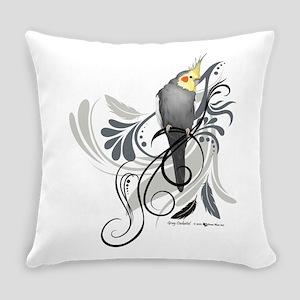 Gray Cockatiel Everyday Pillow