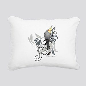 Gray Cockatiel Rectangular Canvas Pillow