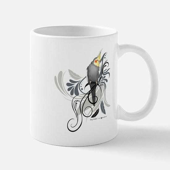 Gray Cockatiel Mugs