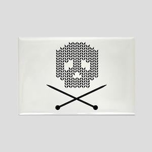 Knit Skull and Crossbones Magnets
