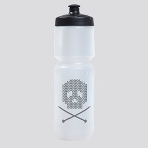 Knit Skull and Crossbones Sports Bottle