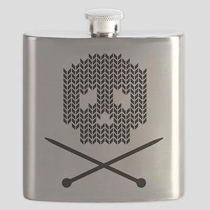 Knit Skull and Crossbones Flask