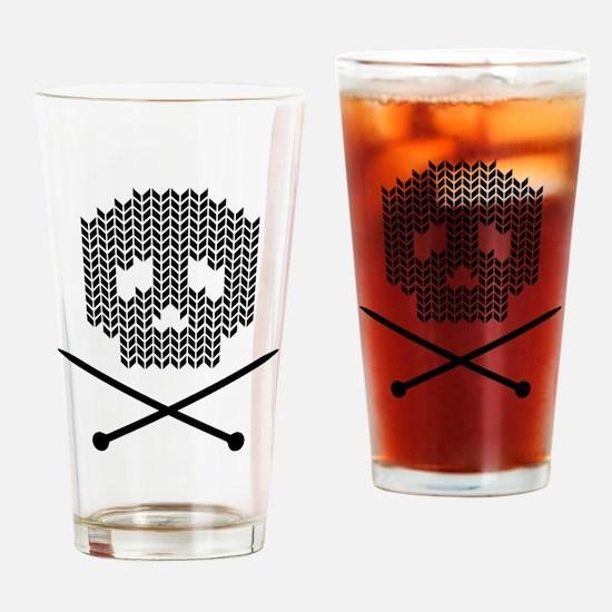 Knit Skull and Crossbones Drinking Glass
