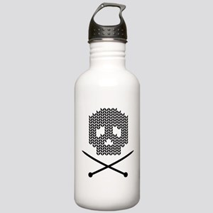 Knit Skull and Crossbones Water Bottle