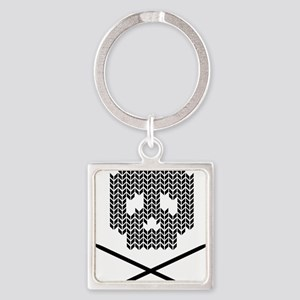 Knit Skull and Crossbones Keychains