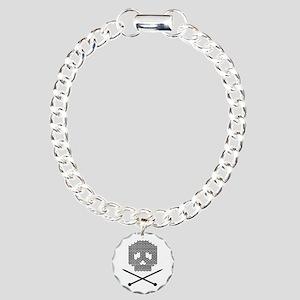 Knit Skull and Crossbones Bracelet