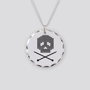 Knit Skull and Crossbones Necklace