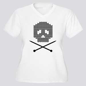 Knit Skull and Crossbones Plus Size T-Shirt