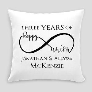 Custom Anniversary Years and Names Everyday Pillow