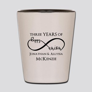 Custom Anniversary Years and Names Infi Shot Glass