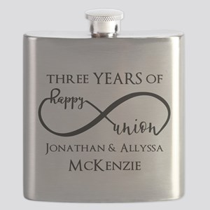 Custom Anniversary Years and Names Infinity Flask