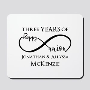 Custom Anniversary Years and Names Infin Mousepad