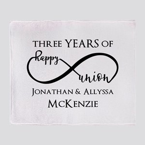 Custom Anniversary Years and Names I Throw Blanket