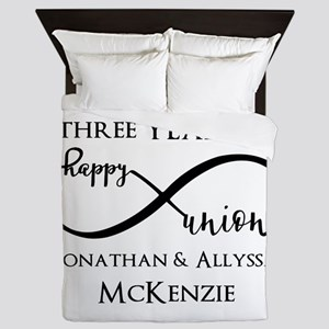 Custom Anniversary Years and Names Inf Queen Duvet